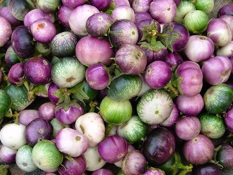 Mix eggplant