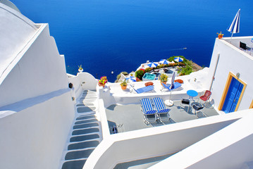 Architecture on Santorini island, Greece