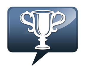 "Speech bubble shaped icon ""Award Cup"""