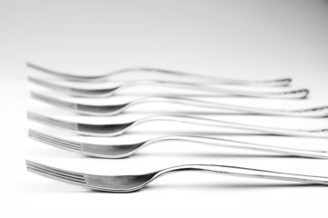 kitchen forks isolated
