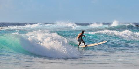 Surfing.