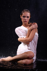 sexual wet woman - a studio picture