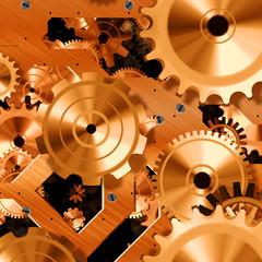 Shiny clock parts