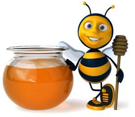Miel et abeille