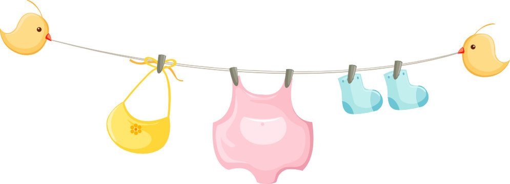 baby clothes on a clothesline