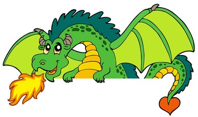 Papiers peints Pirates Giant green lurking dragon