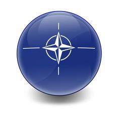 Esfera brillante con bandera OTAN