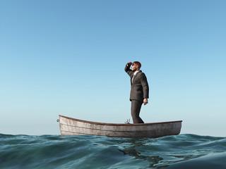 lost man in a boat
