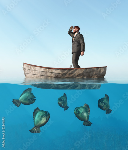 человек делает в лодке