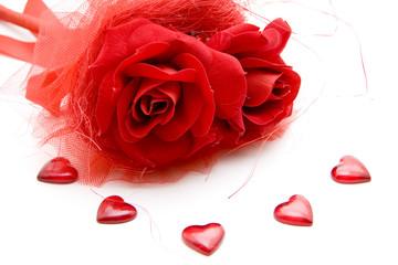 Rose mit Herze