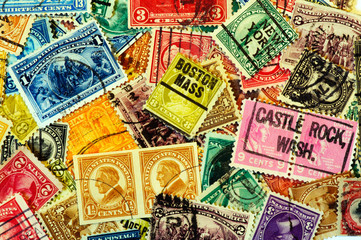 Classic America postage stamps