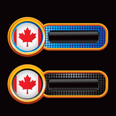 canadian flag blue and black checkered tabs
