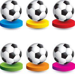 soccer ball colored round discs