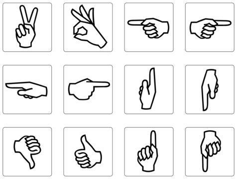Hand symbol collection 01