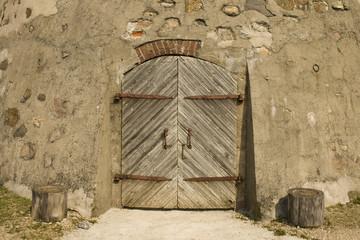 Door in the ancient building