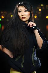 brunette asian model