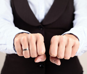Businesswoman Hand Fist