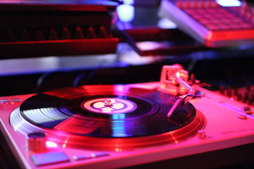 Plattenspieler Pink Vinyl Turntable