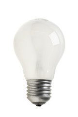 Matted tungsten light bulb
