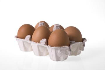 egg box isolated on white background