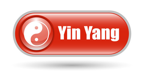 Yin Yang Sign Icon with Copy Space
