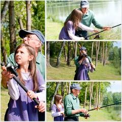 illustration - apprentissage à la pêche