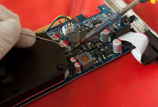 Soldering repair to PC board
