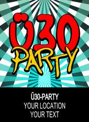 plakat vorlage ü30 party III