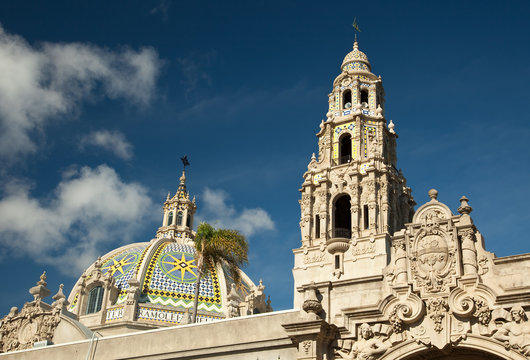 The Tower and Dome at Balboa Park, San Diego, California