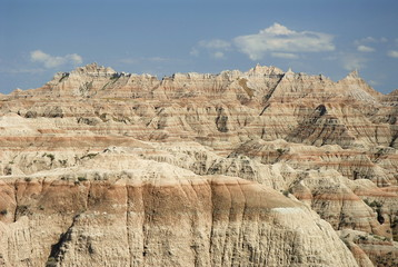 View from White river valley overlook,Badlands national park, SD