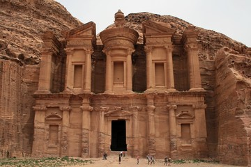 The Monastery at the city of Petra in Jordania