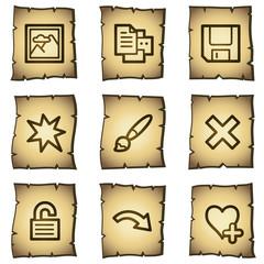 Image viewer web icons set 2, papyrus series