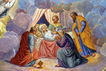 The death of Virgin Mary