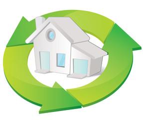 habitation virtueuse a faible consommation d'energie