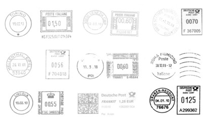 european postmarks (all blacks)