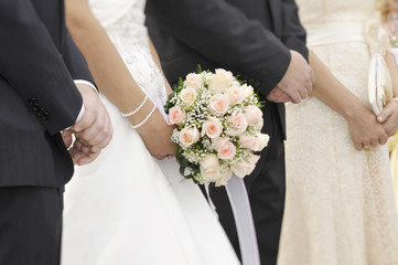 Focus on Bridal bouquet