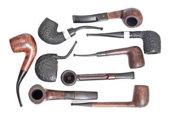 background with tobaco pipe