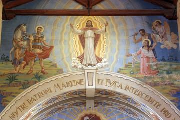 St Martin, Jesus and St. Fosca