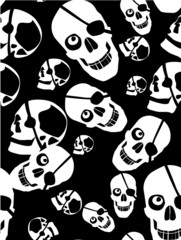 seamless with skull