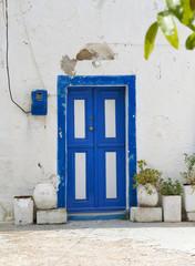 Old Greek Wooden door Kos Island Greece