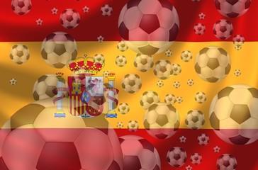 Fussball Flagge Spanien