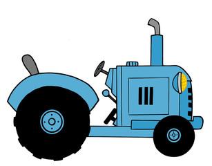 Blue Farm Tractor