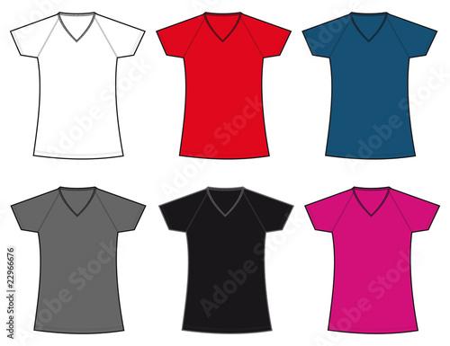 camiseta mujer manga ranglan colores