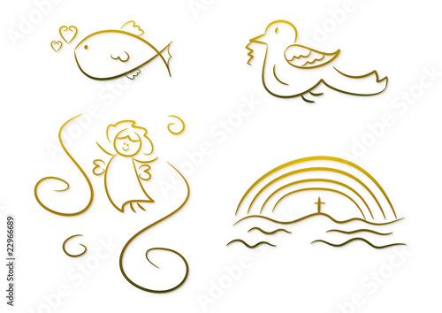 Christliche Symbole Für Kinder Z B Erstkommunion Etc