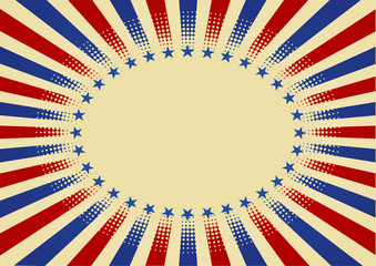 USA radial background