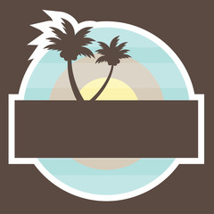 Tropical Beach Banner
