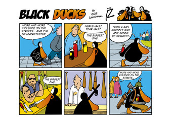 Fotorolgordijn Comics Black Ducks Comic Strip episode 43
