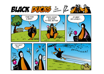 Fotorolgordijn Comics Black Ducks Comic Strip episode 45