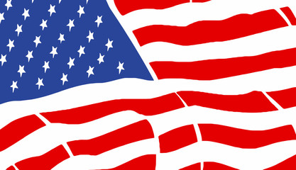 American flag - vector