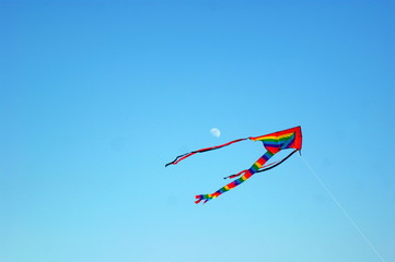 Cerf-volant et lune / kite and moon
